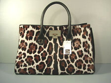 Jimmy Choo Riley Leopard Spots Calf Hair Handbag Tote Bag Purse Satchel NEW
