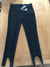 ZARA STUDIO ref.8080/896 Black Wool Mix Trousers with Ankle Details M 10 12 BNWT