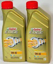 Castrol edge 5W-40 essence/diesel entièrement synthétique huile moteur - 2 x 1 ltr