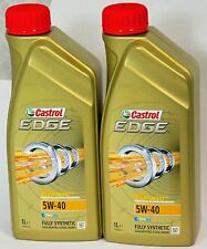 CASTROL EDGE 5W-40 PETROL/DIESEL FULLY SYNTHETIC ENGINE OIL - 2 x 1 LTR