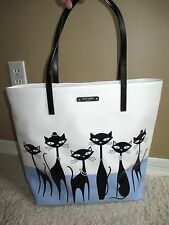 NWT Kate Spade Bon Shopper Jazz Things Up Cat Tote NWT