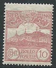 1903 SAN MARINO VEDUTA 10 CENT MNH ** - M18