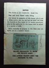 New Jersey 1973 Resident Fishing License with Trout Stamp affixed – used - NJ