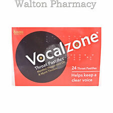 Vocalzones Vocalzone 24 Throat Pastilles Helps keep a clear Voice fast delivery