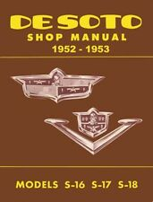 1952 1953 Desoto Shop Service Repair Manual S16 S17 S18