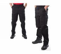 hombre pantalones cargo 44-70 Negro De Trabajo montaje pantalón servicio