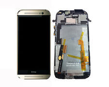 Original HTC One M8 LCD Display Touchscreen Digitizer Touch mit Rahmen Gold