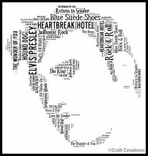 PERSONALISED ELVIS WORD ART PRINT Picture Present GIFT FATHERS DAY THE KING