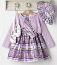 NWT Janie and Jack TEA TIME Outfit Silk Dress Sweater Hat 2T 24 M