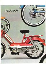 PEUGEOT 101 102 103 104 GT10 SPR TSR 1972 ? catalogue brochure prospekt dépliant