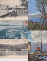 LAGO MAGGIORE ITALY ITALIA 161 Vintage  Postcards Mostly pre-1940.