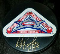 Ray Bourque SIGNED 44 NHL ALL STAR GAME 1993 PHILADELPHIA SPECTRUM GAME PUCK