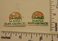 TWO Old 1989 Limited Edition NBA Basketball Pins - Seattle Supersonics