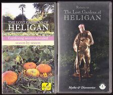 RETURN TO THE LOST GARDENS OF HELIGAN / GARDENING SECRETS - PAL VHS (UK) VIDEO