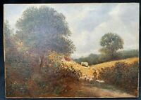 Pretty 19th Century English Landscape impressionist oil painting signed G.BOYLE