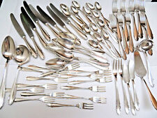 61 Pieces WMF Germany Silver Plate Flatware / Pattern 2200 / 1900 - 1940
