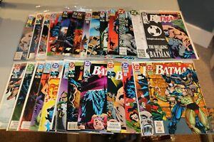 Complete Set BATMAN Knightfall 1-19+ 492-500 DETECTIVE 659-666 Bane + VARIANTS