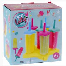 Stieleisform Eis am Stiel Eisförmchen im 6er Set DIY lolly Ice maker BPA FREI