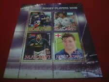 MALAWI - 2008 BEST RUGBY PLAYERS - MINISHEET - UNMOUNTED USED MINIATURE SHEET