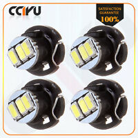 4X White T4/T4.2 Neo Wedge 3SMD LED Dash A/C Climate Control Light Bulb Lamp