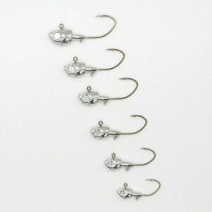 25 PK Herring Jig Heads Various Sizes with Bronze Sickle Hook