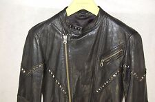 GORGEOUS !!!  John Varvatos MEN  RUNWAY STUDDED LAMB LEATHER BIKER JACKET S