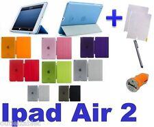 FUNDA apple IPAD AIR 2 (segunda gen) smart cover case+ protectores + accesorios