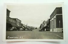 Vintage Unused Real Photo Postcard - Courtenay, B.C., Canada - Downtown 1930-50s