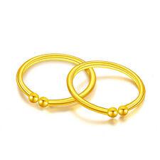 New Solid 24k Yellow Gold Hoop Earrings Small Earrings 0.22g Each one