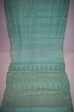 Vintage Firozi Pure Tussar Silk Saree Traditional Embroidered Sari Wedding Wear