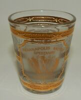 Indianapolis Motor Speedway Culver 22k Gold Accent Souvenir Shot Glass