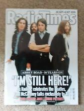 Radio Times: The Beatles  Abbey Road 50 years on. Paul McCartney. Sept 2019   b