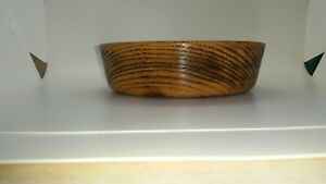 Wood bowl, white oak, singed with fire, made on my lathe