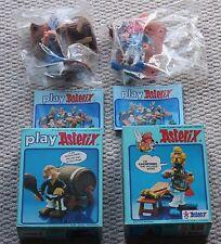 Vintage Astérix Action Figures 006205 6206 Cacofonix AGECANONIX Comme neuf boxed