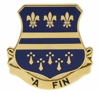 Army 335th Regiment Shield 1 1/4 inch Hat Pin H513704 JD182