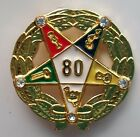 80 YEAR SERVICE AWARD ORDER OF EASTERN STAR lapel pin gold