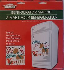 New Christmas House Refrigerator, Car, Dishwasher, Metal Doors Magnets ~Reindeer