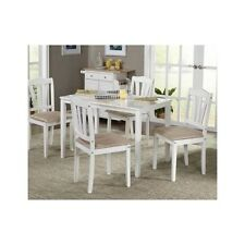 5 Piece Dining Set Home Table Chairs Seat Dinner Farmhouse Furniture White New