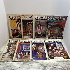 CROSS STITCH & COUNTRY CRAFTS MAGAZINES LOT OF 8, VINTAGE, 1986 TO 1994