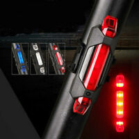USB Rechargeable Cycling 5x LED Bike Bicycle Tail Warning Light Rear Safety Lamp