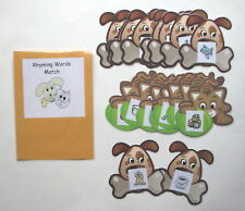 Teacher Made Literacy Center Learning Resource Game Rhyming Words Match
