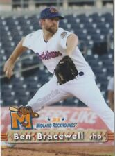 2018 Midland RockHounds Ben Bracewell RC Rookie Oakland Athletics