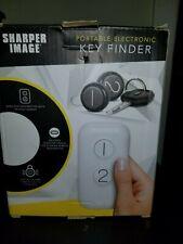 Sharper Image Portable Electronic Key Finder Locator w/ 2 Key Fobs