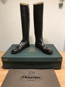 Church's Martina Black Leather Riding Tall Boots! Size 40! New! Only £349.90!