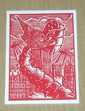 2015 Topps Mars Attacks Occupation KS London Letterpress Woodcut art MA-LP 7