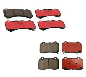 Brembo Front and Rear Ceramic Brake Pads Set Kit for Durango Grand Cherokee SRT