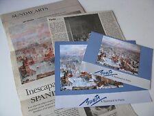 2005 Yunta a Spaniard in Paris Leepa Rattner Museum of Art Program Newspaper Set
