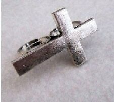 Large Double Ring Cross variable silver coloured Two finger Gothic