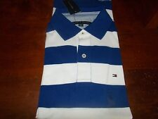 NWT MENS TOMMY HILFIGER SHORT SLEEVE POLO SHIRT large l  STRIPED CLASSIC FIT