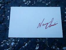 #MISC-3377 - 3x5 index card - signed auto - HOCKEY - HARRY SINDEN